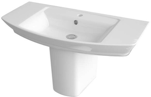 Additional image for Basin & Semi Pedestal (1 Tap Hole, 850mm).