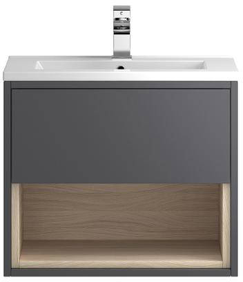 Additional image for 600mm Wall Hung Vanity With 600mm WC Unit & Basin 1 (Grey).