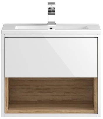 Additional image for 600mm Wall Hung Vanity With 600mm WC Unit & Basin 2 (White).
