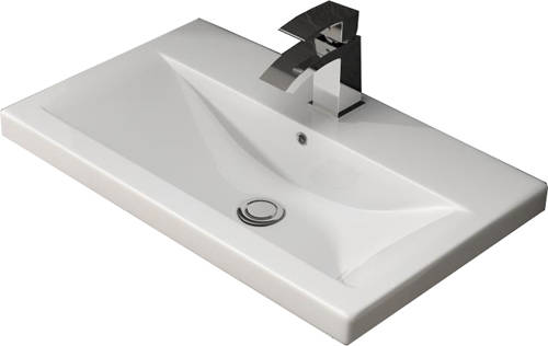 Additional image for 800mm Vanity Unit With 600mm WC Unit & Basin 1 (Grey).
