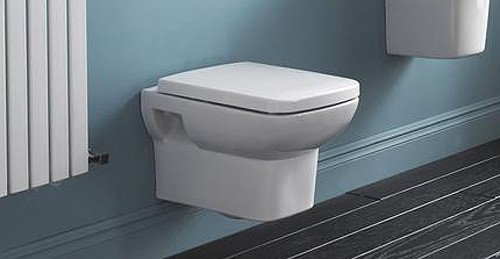 Additional image for Square Wall Hung Toilet Pan With Soft Close Seat.