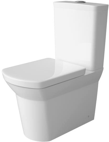 Additional image for Flush To Wall Toilet Pan With Cistern & Push Button Flush.