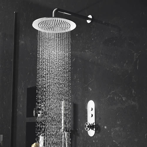 Additional image for Push Button Shower Valve With Industrial Handle (2 Outlets).