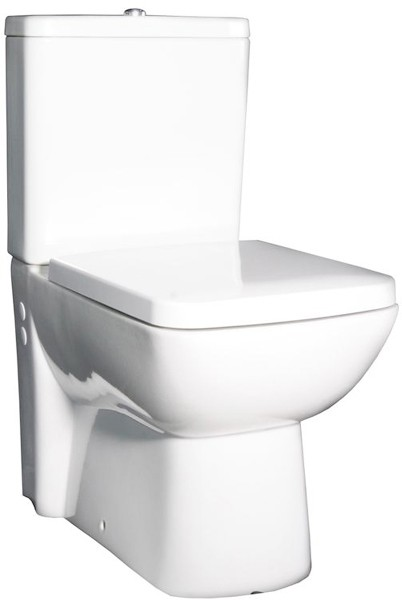 Additional image for Flush To Wall Toilet Pan, Cistern & Soft Close Seat.