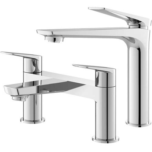 Additional image for Tall Basin & Bath Filler Tap Pack (Chrome).