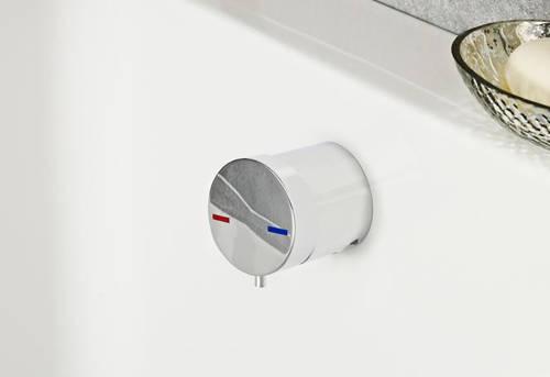 Additional image for Single Lever Free Flow Bath Filler Waste (Chrome).