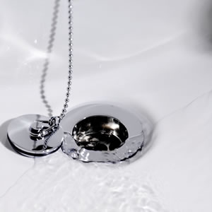 Additional image for Brass basin waste with ball chain (Chrome)