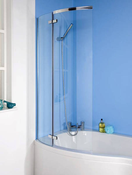 Additional image for Ella Curved P-Bath Screen (1400x730mm).