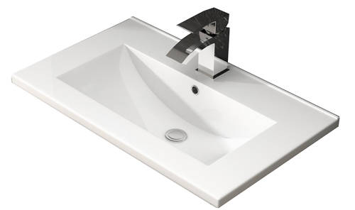 Additional image for Floor Standing 600mm Vanity Unit & Basin Type 2 (White Gloss).