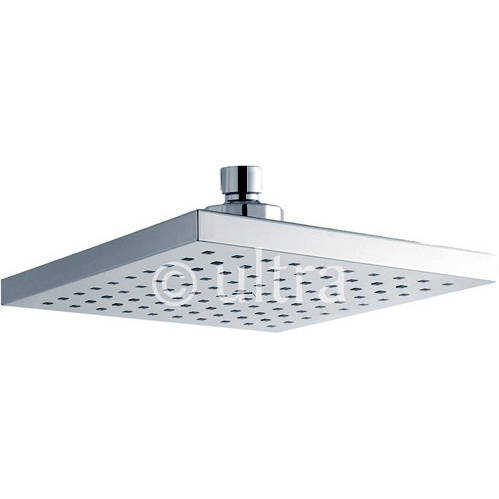 Additional image for Square Shower Head (Chrome). 200x200mm.