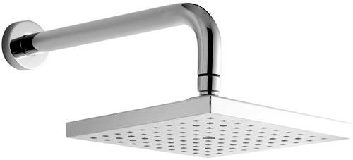 Additional image for Square Shower Head With Arm (200x200mm, Chrome).