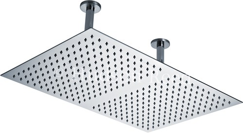 Additional image for Rectangular Shower Head (Stainless Steel). 600x400mm.