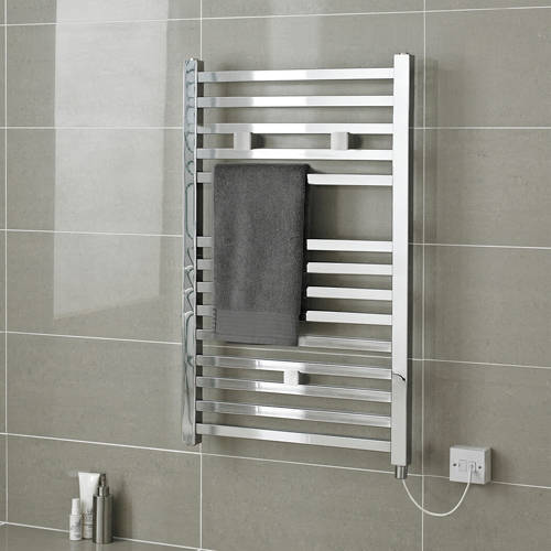 Additional image for Electric Towel Rail 500W x 690H mm (Chrome).