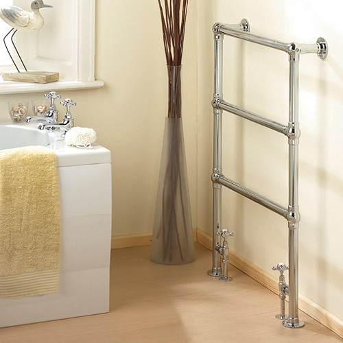 Additional image for Countess heated towel rail (chrome). 660x940mm. 691 BTU
