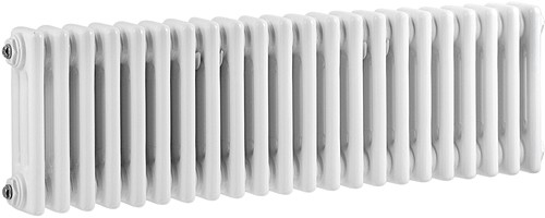 Additional image for 3 Column Horizontal Radiator (White). 1011x300mm.