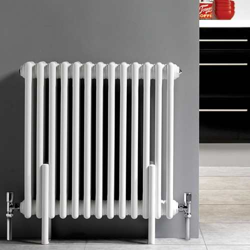Additional image for 3 Column Radiator With Legs (White). 606x600mm.