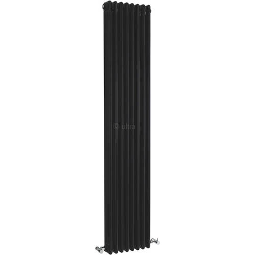 Additional image for Triple Column Radiator (Black). 381x1800mm.