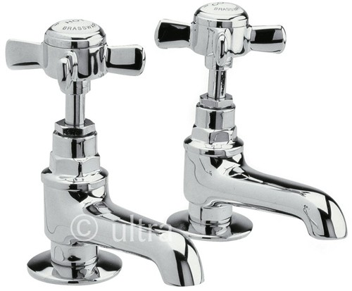 Additional image for Long Nose Basin taps (Pair, Chrome)
