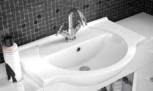 Additional image for 450mm Vanity Unit With Basin Type 1 & 500mm WC Unit (White).