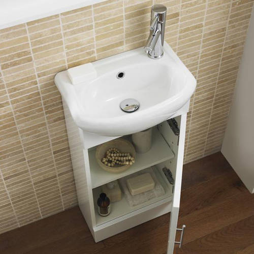 Additional image for Vanity Pack With Pan, Cistern, Tap & Basin 920mm (RH, White).