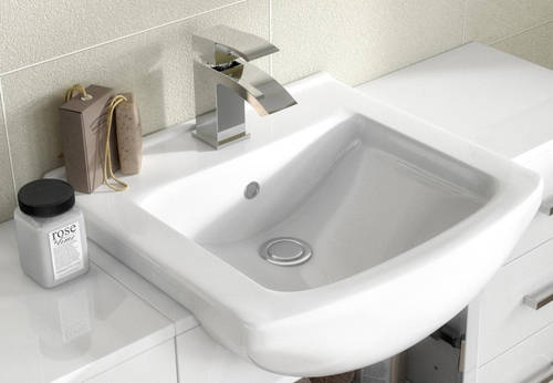 Additional image for 650mm Vanity Unit With Basin Type 2 & 500mm WC Unit (White).