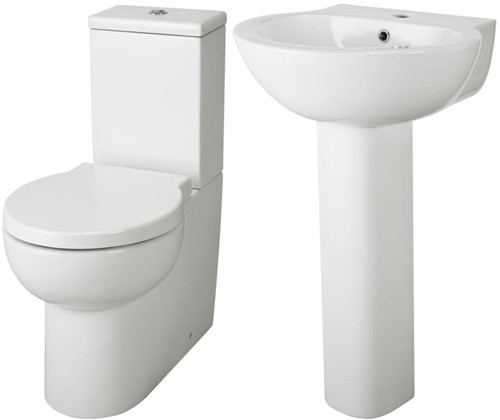Additional image for 4 Piece Bathroom Suite With Toilet & Basin.
