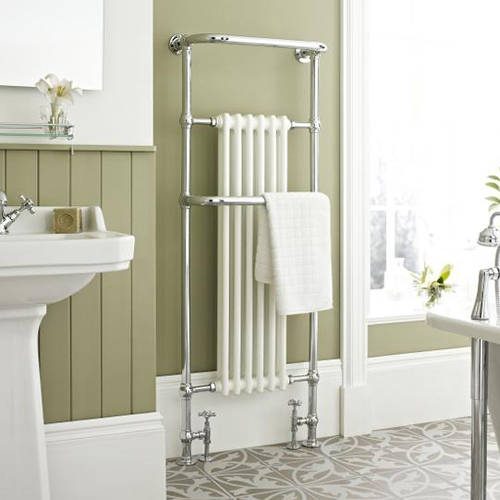 Additional image for Brampton Traditional Towel Radiator H1500 x W575 (Chrome).