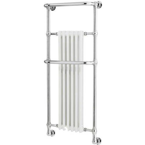 Additional image for Brampton Traditional Towel Radiator H1362 x W575 (Chrome).