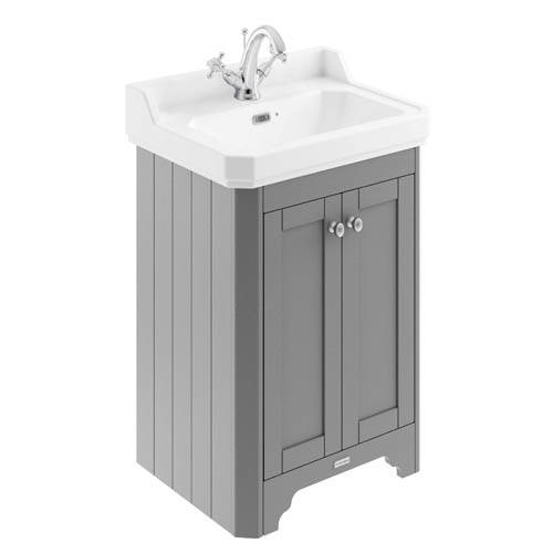 Additional image for Vanity Unit With Basins 595mm (Grey, 1TH).