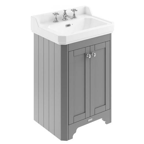 Additional image for Vanity Unit With Basins 595mm (Grey, 3TH).