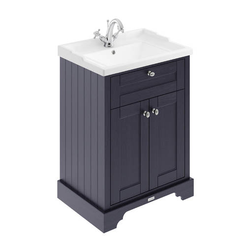 Additional image for Vanity Unit With Basins 600mm (Twilight Blue, 1TH).