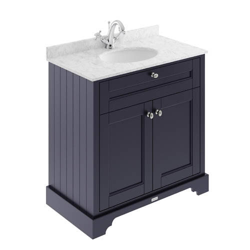 Additional image for Vanity Unit, Basin & Grey Marble 800mm (Blue, 1TH).