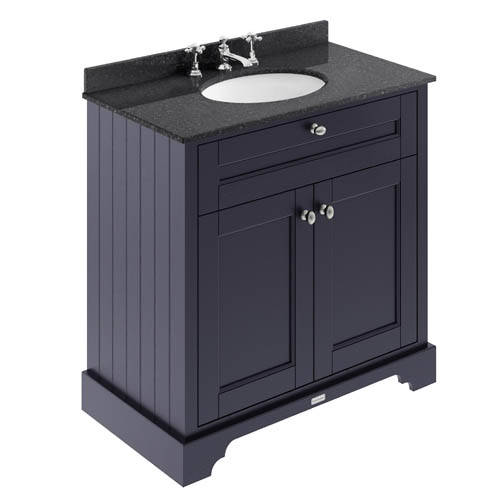 Additional image for Vanity Unit, Basin & Black Marble 800mm (Blue, 3TH).