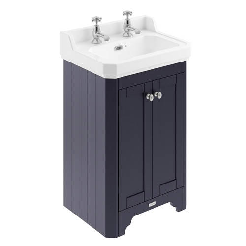 Additional image for Vanity Unit With Basins 560mm (Blue, 2TH).