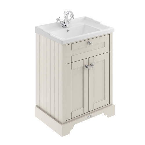 Additional image for Vanity Unit With Basins 600mm (Timeless Sand, 1TH).