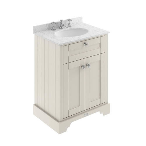Additional image for Vanity Unit, Basin & Grey Marble 600mm (Sand, 3TH).