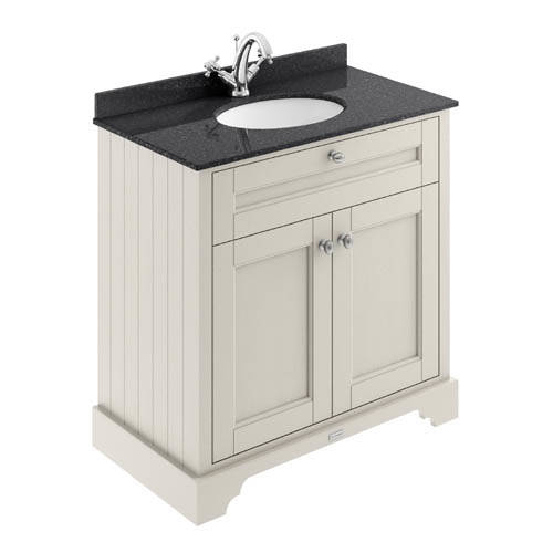 Additional image for Vanity Unit, Basin & Black Marble 800mm (Sand, 1TH).