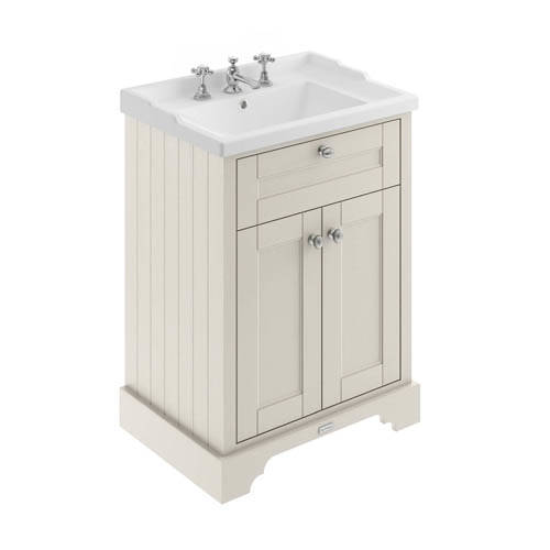 Additional image for Vanity Unit With Basins 600mm (Timeless Sand, 3TH).