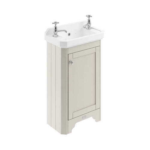 Additional image for Cloakroom Vanity Unit With Basins 515mm (Sand, 2TH).