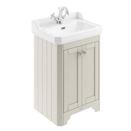 Additional image for Vanity Unit With Basins 595mm (Sand, 1TH).