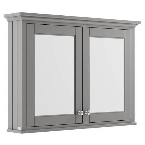 Additional image for Mirror Bathroom Cabinet 1050mm (Storm Grey).