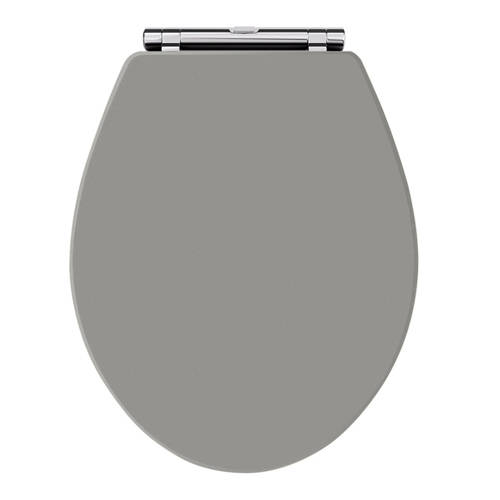 Additional image for Carlton Toilet Seat With Soft Close (Storm Grey).