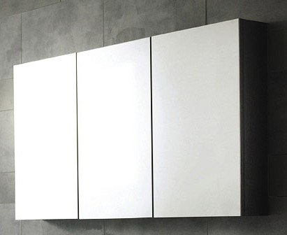 3 Door Mirror Bathroom Cabinet. 1350x700x150mm. Hudson Reed ...