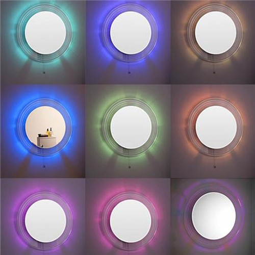 Additional image for Orpheus LED Bathroom Mirror (600mm diameter).