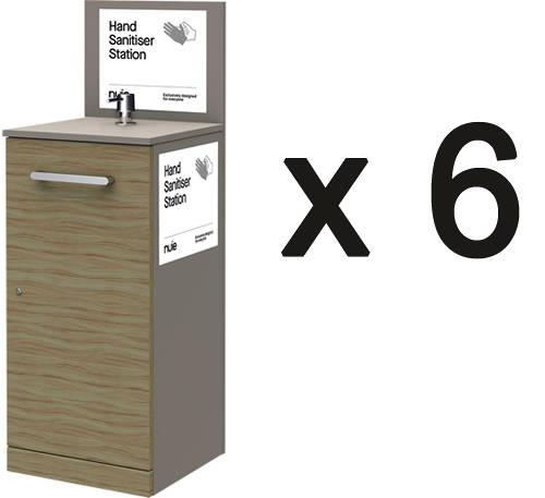 Additional image for 6 x Floor Standing Hand Sanitiser Stations & Pump Dispenser.