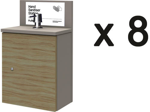 Additional image for 8 x Wall Mounted Hand Sanitiser Stations & Pump Dispenser.