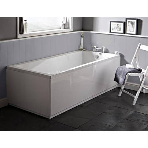 Additional image for Linton Single Ended Acrylic Bath. 1500x700mm.