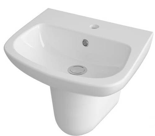 Additional image for Basin & Semi Pedestal (500mm).
