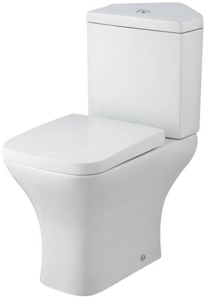Additional image for Corner Toilet Pan & Cistern (Semi Flush).