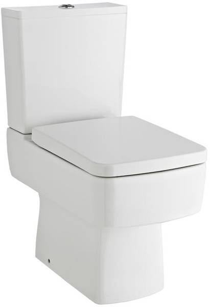 Additional image for Semi Flush To Wall Compact Toilet Pan & Cistern.